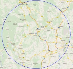 KM Map 25 KM