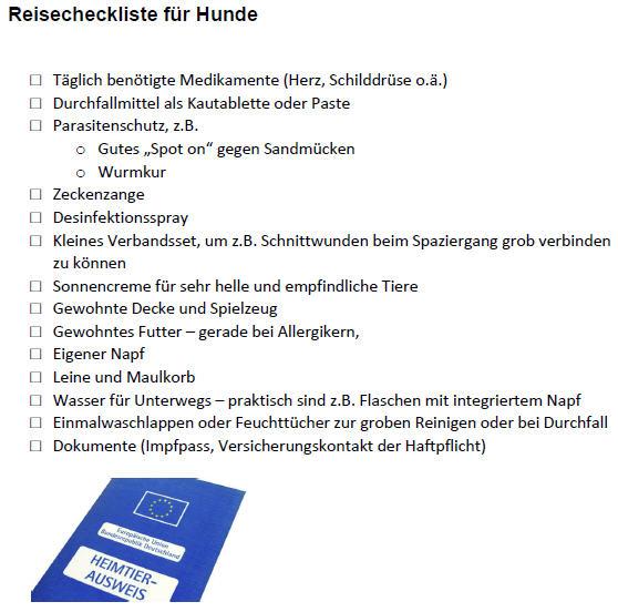Thumbnail Reisecheckliste